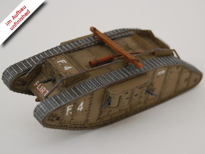 Erster Weltkrieg Diorama eines englischen Schützengrabens mit Tank und Soldaten, Diorama of a British Trench in WWI Bild 14