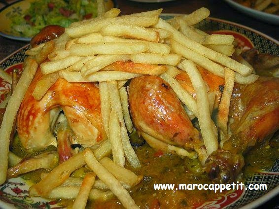 Poulet aux frites | Chicken with fries