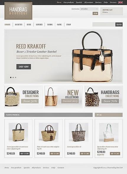 thiết kế website bán hàng túi xách