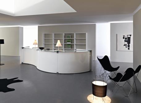 A a a bancone di design arscity for Arredo ufficio reception