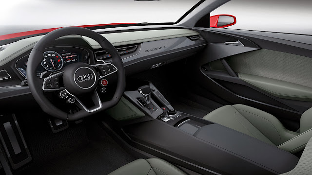 The Audi Sport quattro laserlight concept car interior