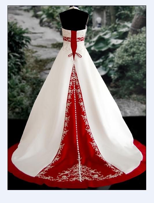 Свадебные Платья С Красным Принтом