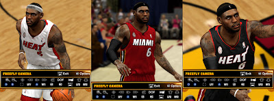 NBA 2K13 LeBron James Real Cyber Face Patches NBA2K