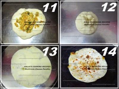 Mushroom Cheese Paratha