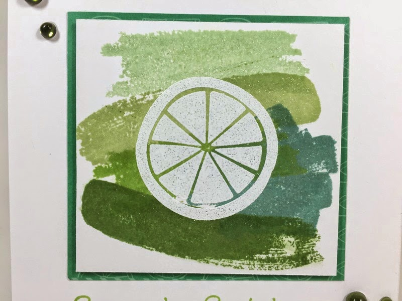 Cricut Lime Ombre card