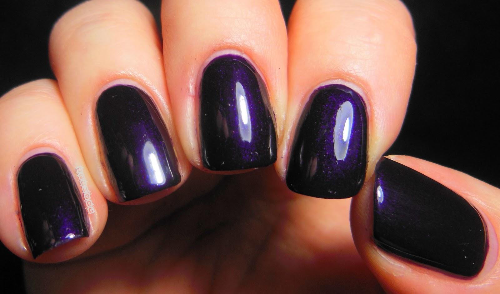 Dark Purple Nails   Dress images