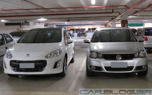 Peugeot 308 2.0 Automático x VW Golf 2.0 Automático