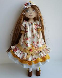 текстильная авторская кукла ручная работа