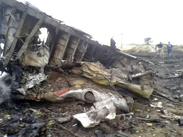 partes del MH17 Malaysia Airlines