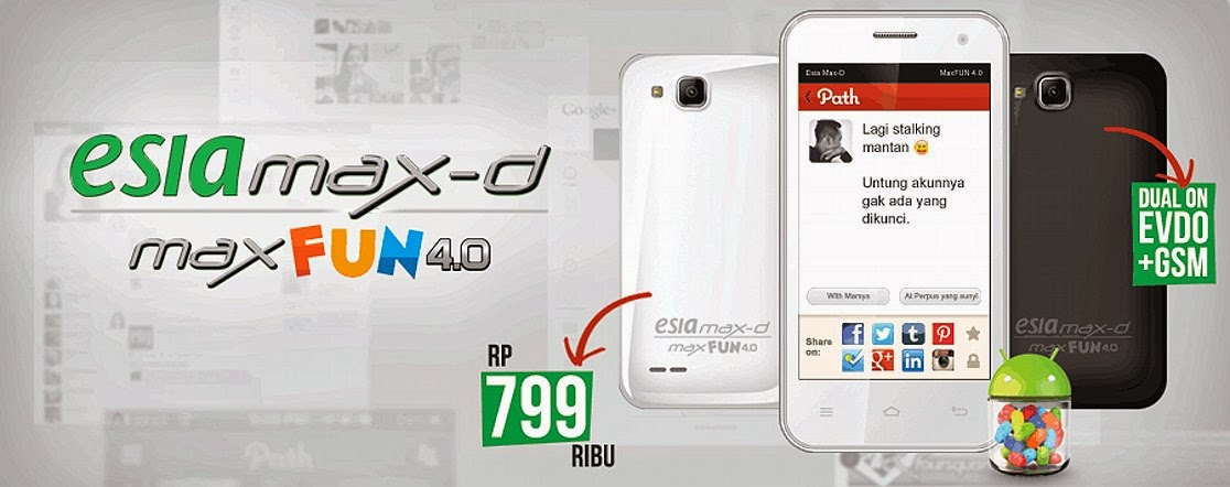 Hape Esia MaxFun 40 Seputar Dunia Ponsel Dan HP