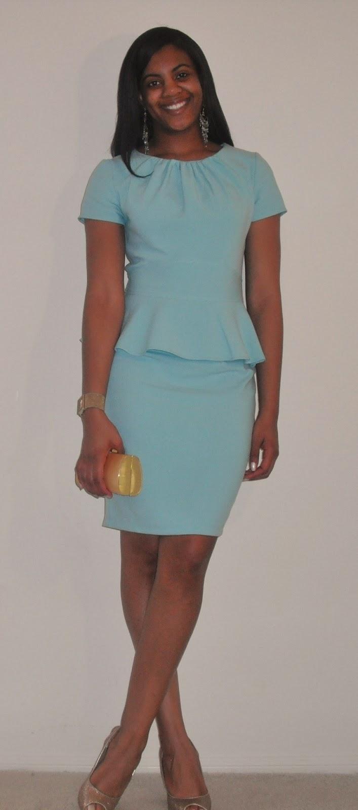 Fash-N-Spiration: Easter Egg Blue Peplum Dress
