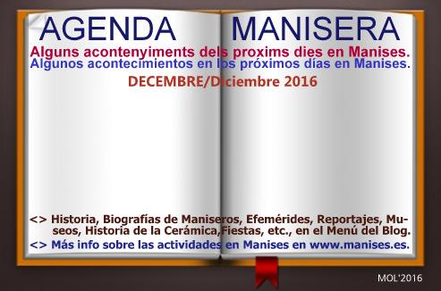 AGENDA MANISERA, DECEMBRE DE 2016