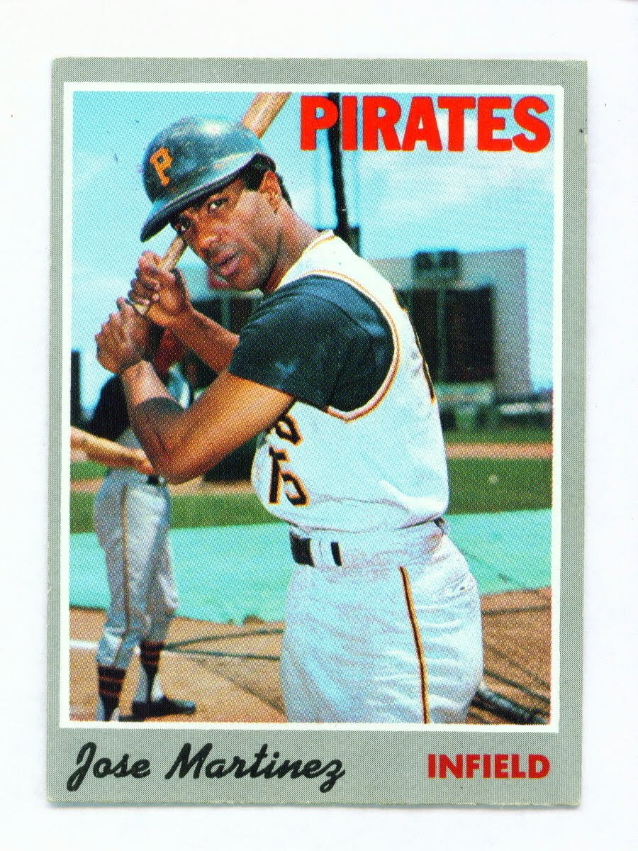 Jose Martinez 1970 baseball card