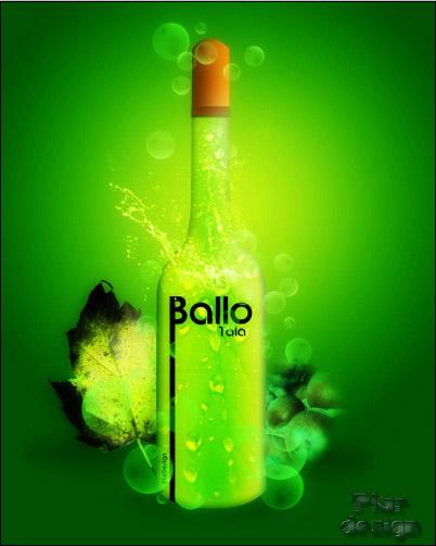 membuat poster iklan minuman
