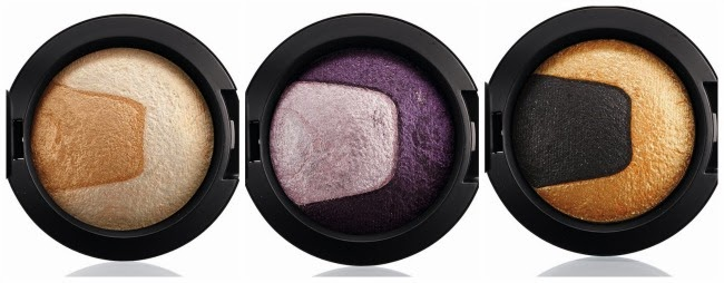 MAC shadows Captivating, Past Midnight, Gilded Night
