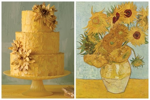 Wedding Cakes Inspired by Works of Art