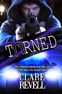 Turned by Clare Revell - man with gun shown on cover