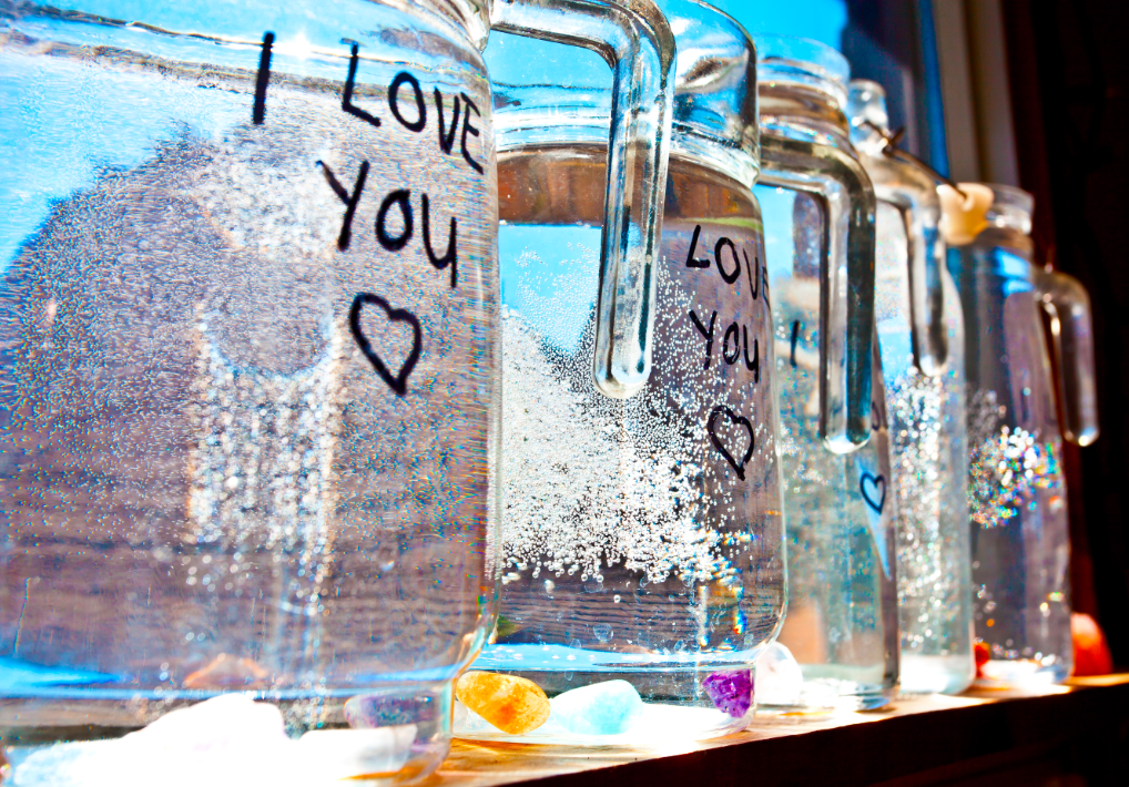 Charge your water with sunlight and quartz crystals and words ;)