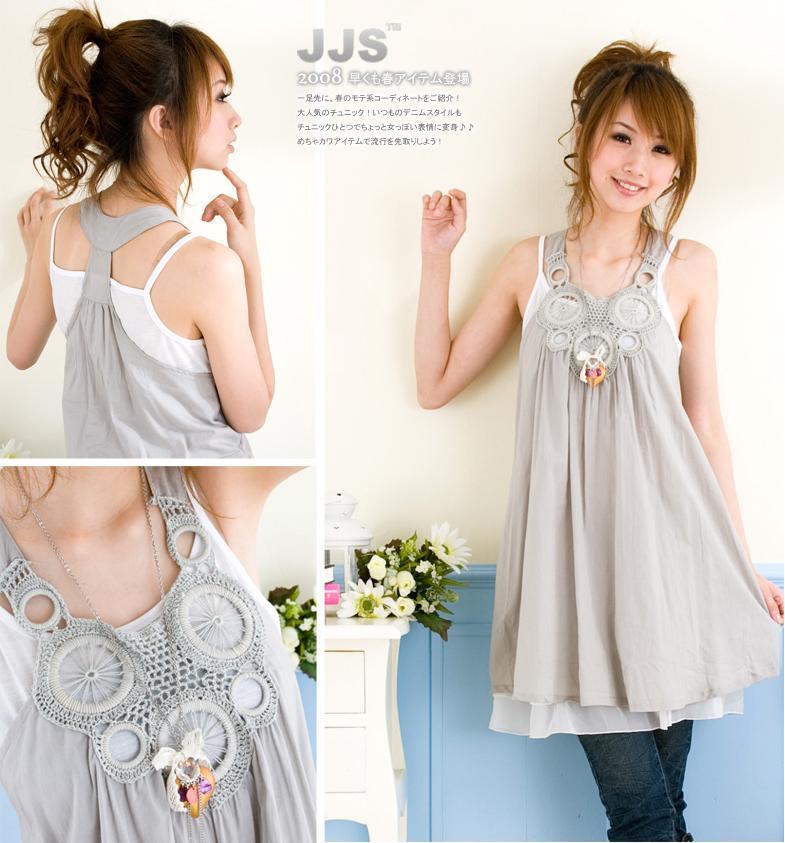 Вязаное платье с лифом