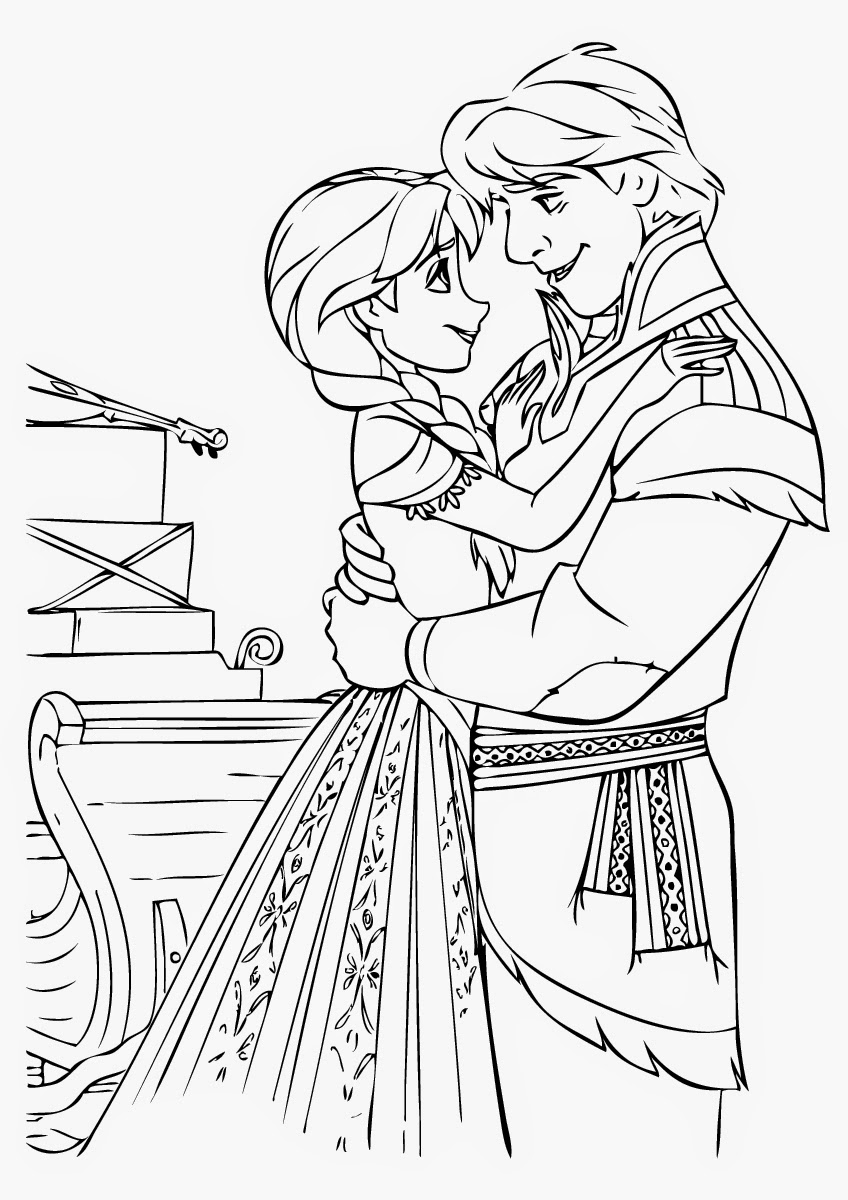 Free coloring in pages frozen