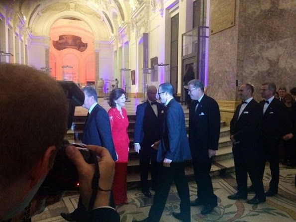 King Carl Gustaf XVI and Queen Silvia of Sweden attend the Swedish Chamber of Commerce's Centenary Celebrations dinner at Le Petit Palais