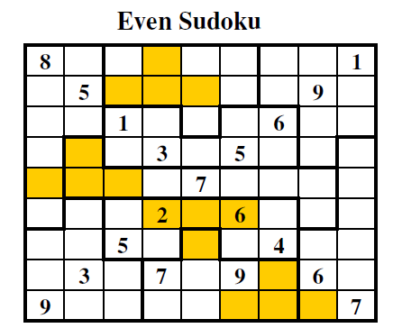 Even Sudoku (Guest Authors Sudoku #1)