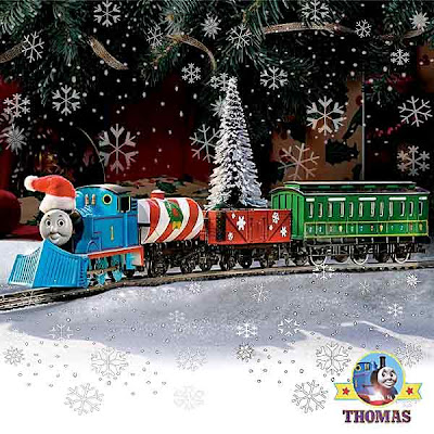 Winter Holiday Special scale model HO Bachmann Thomas the train set snow covered tree decorations