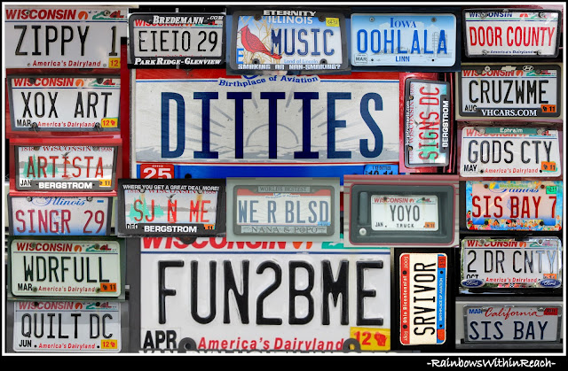 photo of: License Plate Collage by Debbie Clement