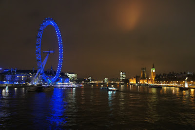 London Eye y Big Ben, desde el Golden Jubilee bridge