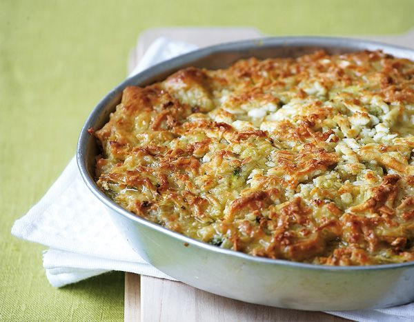 Ioanna's Notebook - Batzina (Greek traditional crustless zucchini pie)