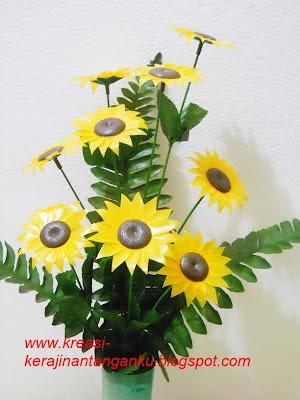 Bunga Matahari dari sedotan , banyak cara untuk membuat bunga ini, di