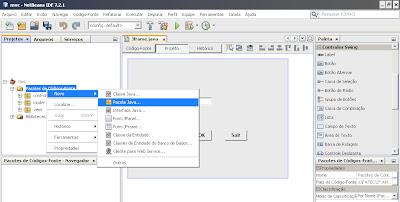 Adicionando pacotes ao projeto NetBeans