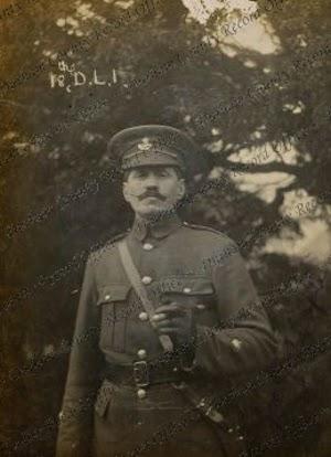Sergeant Major Chaplin of the 18th Battalion, Durham Light Infantry  taken at Cocken Hall, 1914 (D/DLI 2/18/24(89))