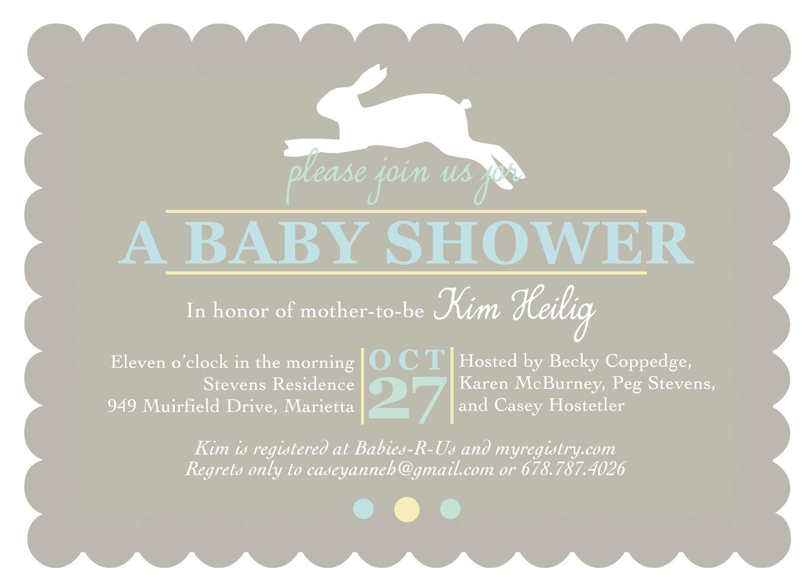 Shilo Lynn Prints bunny baby shower invitation