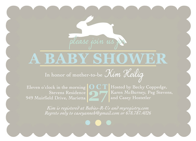 shilo lynn prints bunny baby shower invitation