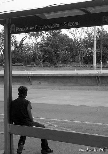 samotność, przystanek,