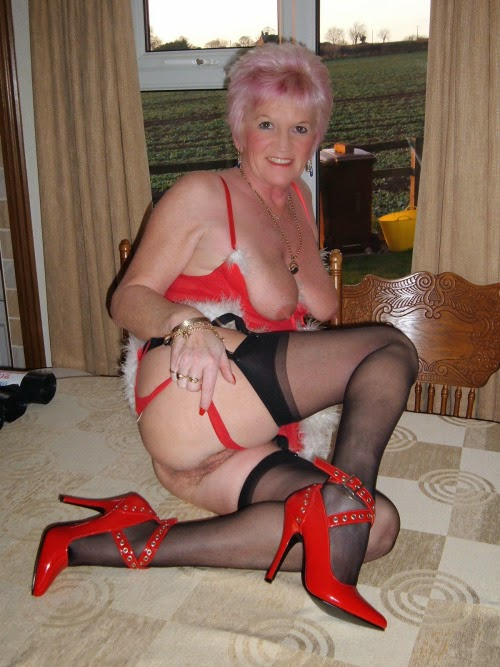 In and heels nylons grannies high
