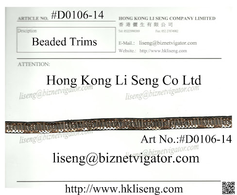 Beaded Trims Manufacturer - Hong Kong Li Seng Co Ltd