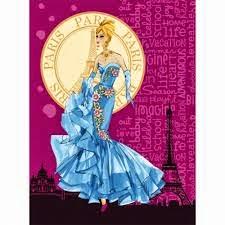 Jual Selimut Rosanna Soft Panel Blanket Paris Barbie Biru