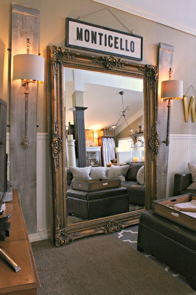 Monticello, Railing Sconce, Marbella Avignon Floor Mirror, Huge Floor Mirror, Oversized Ornate Floor Mirror