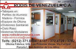 RODIS DE VENEZUELA, C.A. en Paginas Amarillas tu guia Comercial