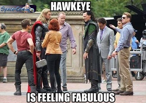 funny celebrities Hawkeye picture