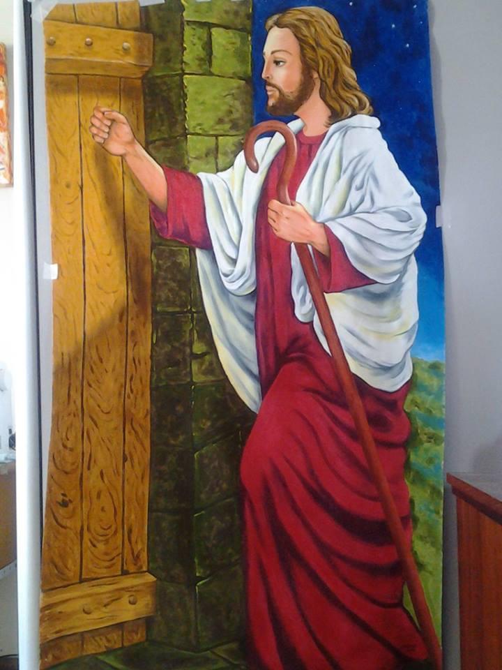 Solange pinturas e artes jesus bate a porta for Jesus a porta
