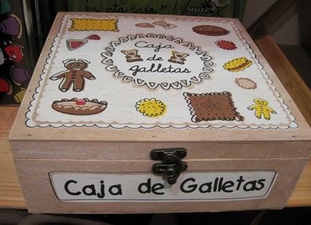 Caja madera para galletas