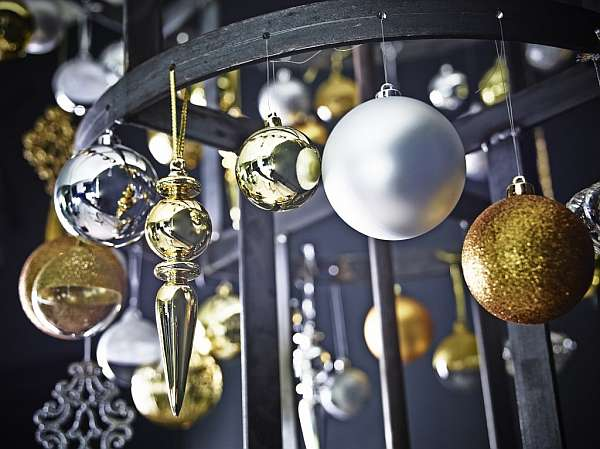 IKEA: Christmas Inspirations silver gold