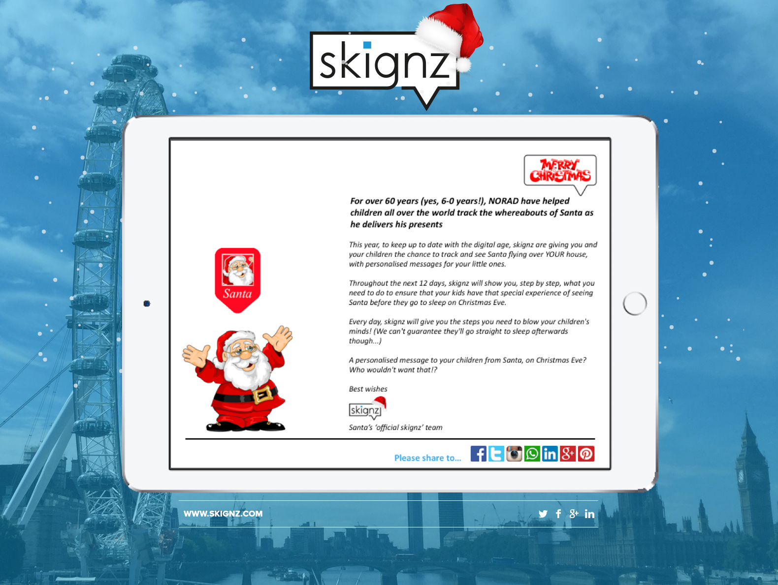 skignz: 12 \'skignz\' Days of Christmas - An experience your children ...