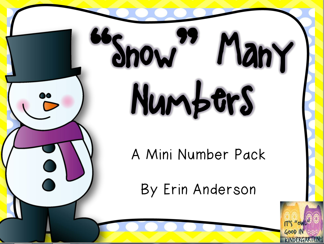 http://www.teacherspayteachers.com/Product/Snow-Many-Numbers-Mini-Pack-1084235