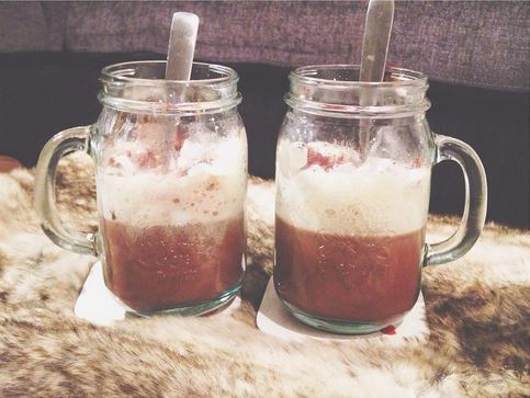 hot chocolate mason jars