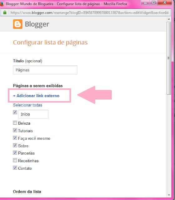 Como organizar o conteudo das páginas do blog