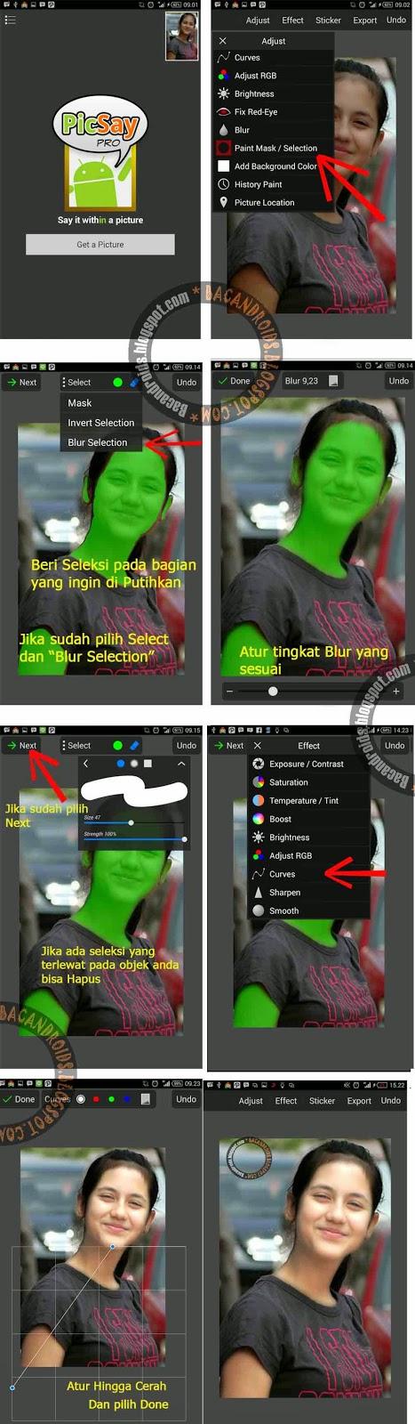 Penggunaan picsay Pro Cara Edit Foto Memutihkan Kulit
